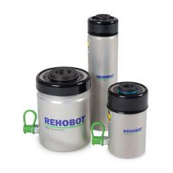 Enkelverkande hålcylinder i aluminium med tryckfjäder