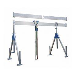 Stationär bockkran 1500 kg, aluminium, Storlek:L