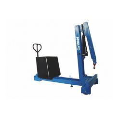 Hydraulisk motviktskran med vikbar arm, kapacitet 250-550 kg