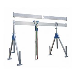 Stationär bockkran 1000 kg, aluminium, Storlek:M