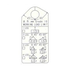 Märkbricka Gunnebo Flexi 10 mm, i påse med lås & wire