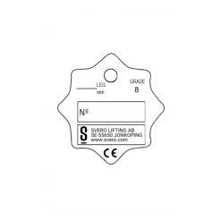 Märkbricka, för märkning av Svero klass 8