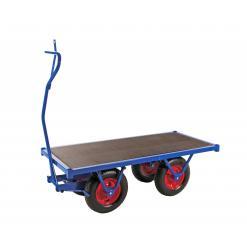 Flakvagn 1,5 m, punkteringsfria hjul