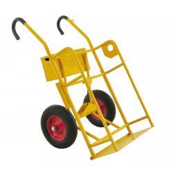 Gastubskärra för 2 stora tuber, 250 kg, punkteringsfria hjul