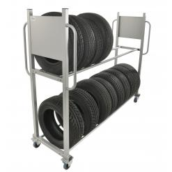 Däckställ med hjul, 300 kg