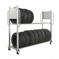 Däckställ med hjul, 300 kg, broms