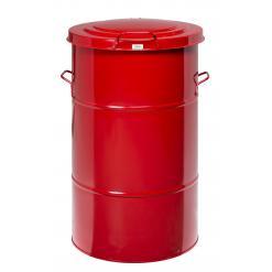 Avfallstunna 115L, röd